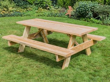 Outdoor Essentials wooden picnic table