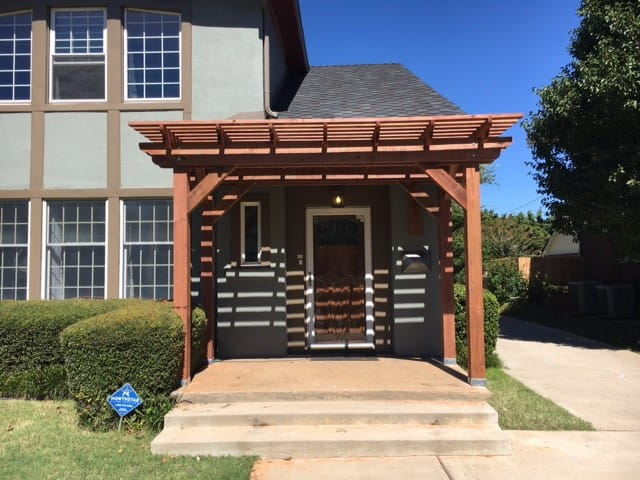 Outdoor Essentials Woodlands wooden pergola close up