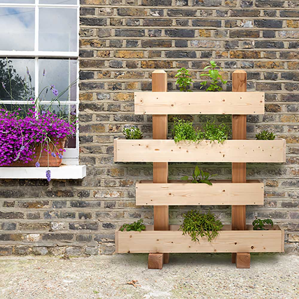 Superbe ... Outdoor Essentials 4 Tier Stacked Vertical Garden Planter
