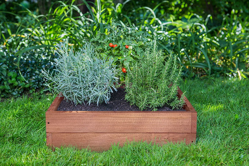 outdoor essentials rustic raised garden bed red