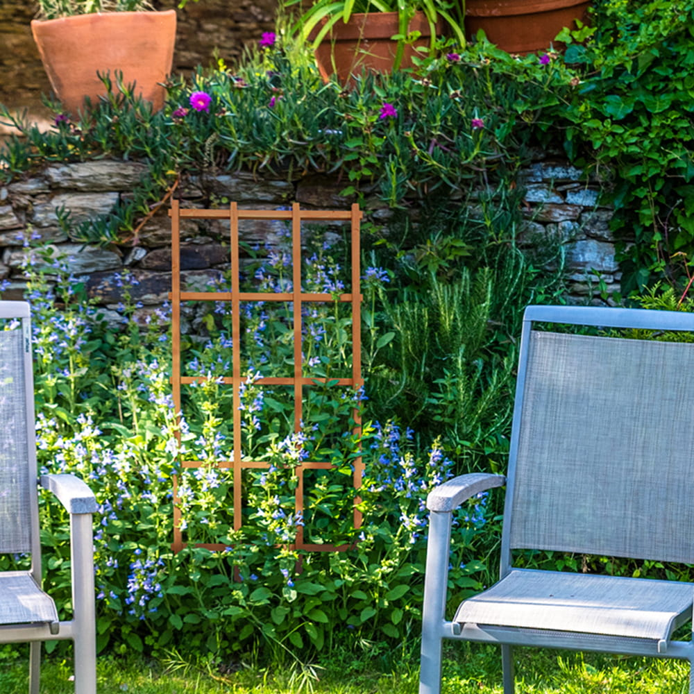 ... Wooden Garden Trellis Provides Support For Climbing Plants And Flowers