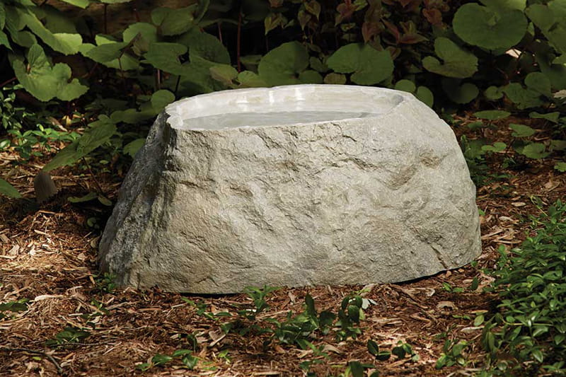 outdoor essentials medium fake rock birdbath