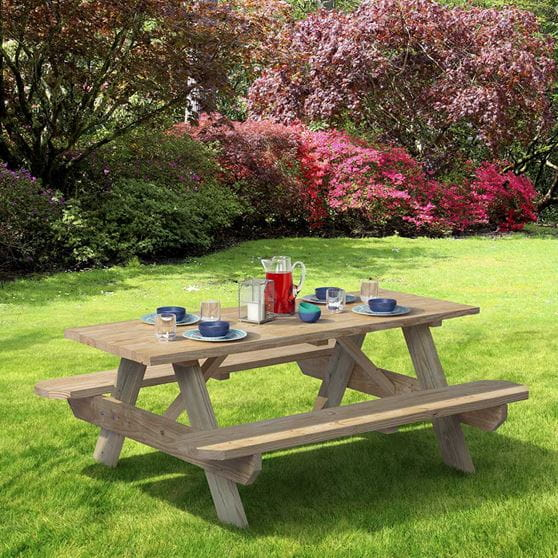 Adult Pressure Treated Picnic Tables Outdoor Essentials - Treated lumber picnic table