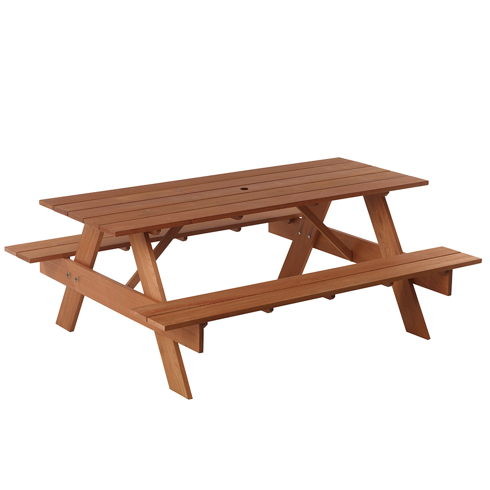 ... Red Balau Premium Wood Picnic Table ...