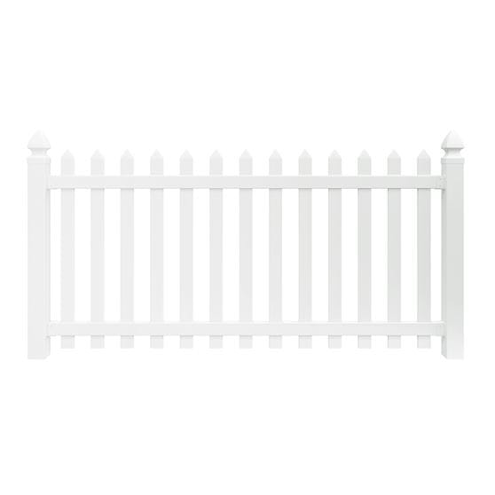 Outdoor Essentials 4x8 Yorktown Spaced Picket Vinyl Fence