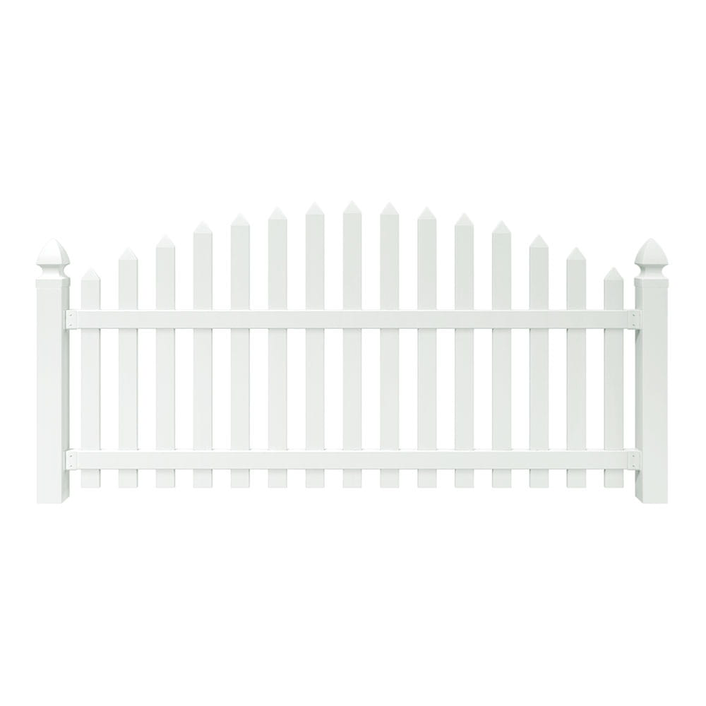 4x8 Yorktown Arched Spaced Picket Fence Panel Outdoor