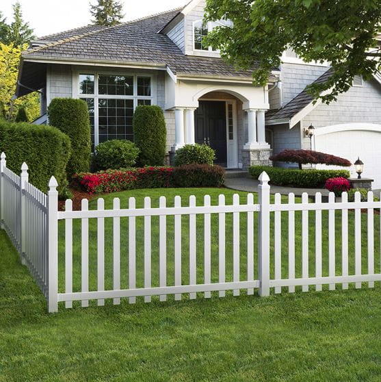Simple Picket Fence: 4x8 Yorktown Spaced Picket Fence Panel