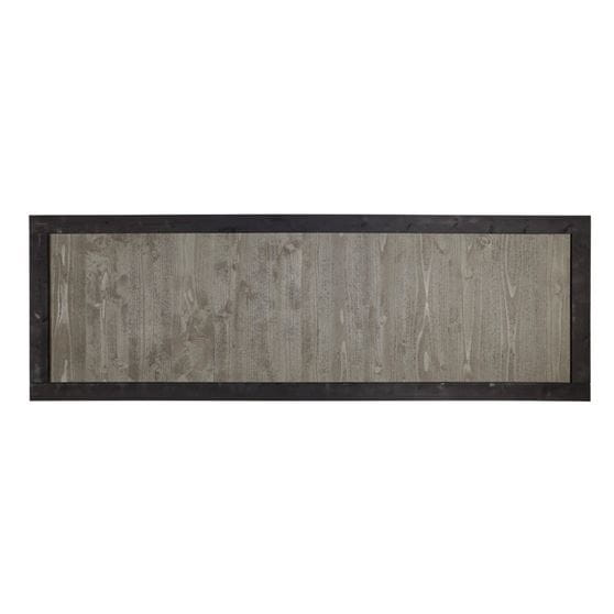 2x6 gray framed wood fence panel