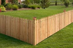 outdoor essentials french gothic wood privacy fence