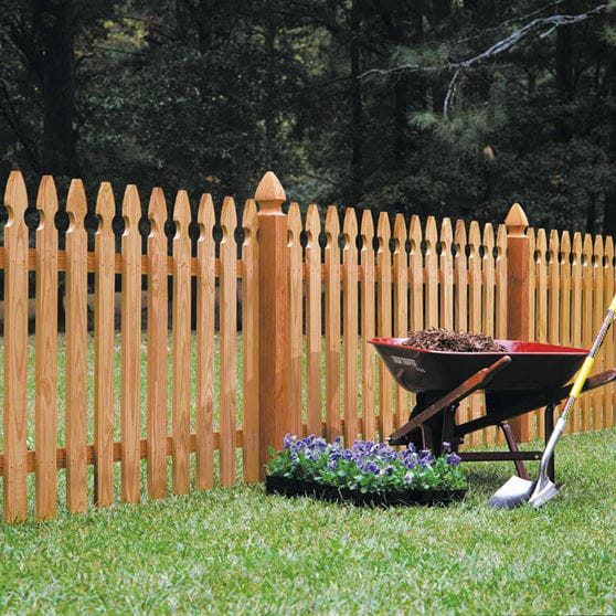 4x4 5 Ft Cedar French Gothic Fence Posts Outdoor