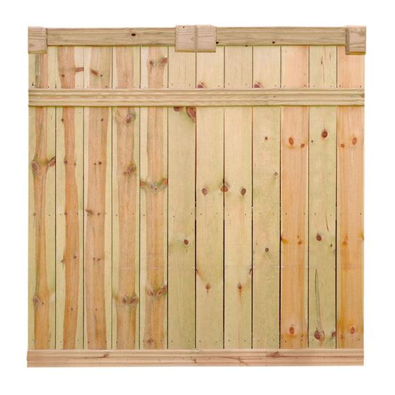 Outdoor Essentials Privacy Fence With Euro Top Accent Kit
