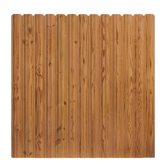 outdoor essentials cedar tone dog ear privacy fence panel front