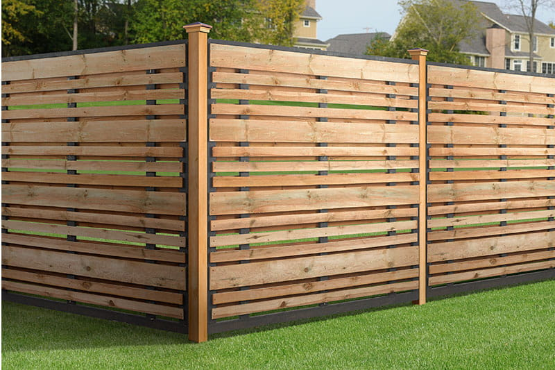 Outdoor Essentials Horizontal Semi Privacy Wood Fence