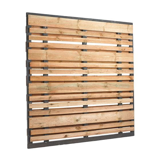 Outdoor Essentials 6x6 Horizontal Semi Privacy Wood Fence Panel