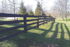 outdoor essentials 4-board kentucky board fence