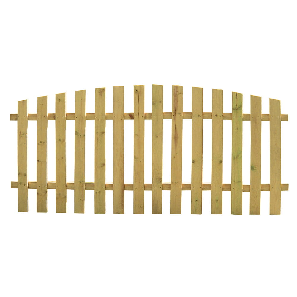 wood picket fence panels. Outdoor Essentials Arched Spaced Picket Wood Fence Panel Panels E