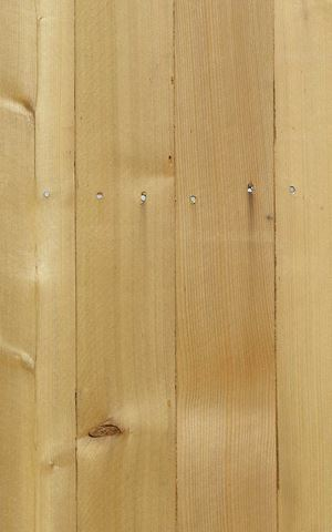 Western Red Cedar Fence Pickets Close Up