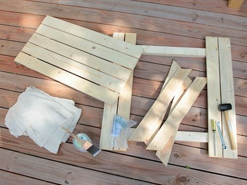 How to Paint a Picnic Table - Materials Needed