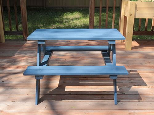outdoor essentials children's picnic table final blue