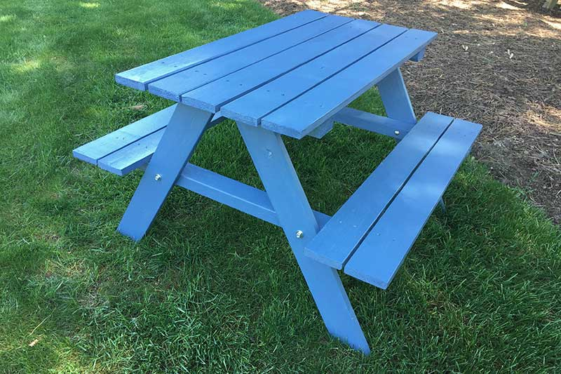 Add Color To Your Picnic Table Outdoor Essentials - Teal picnic table