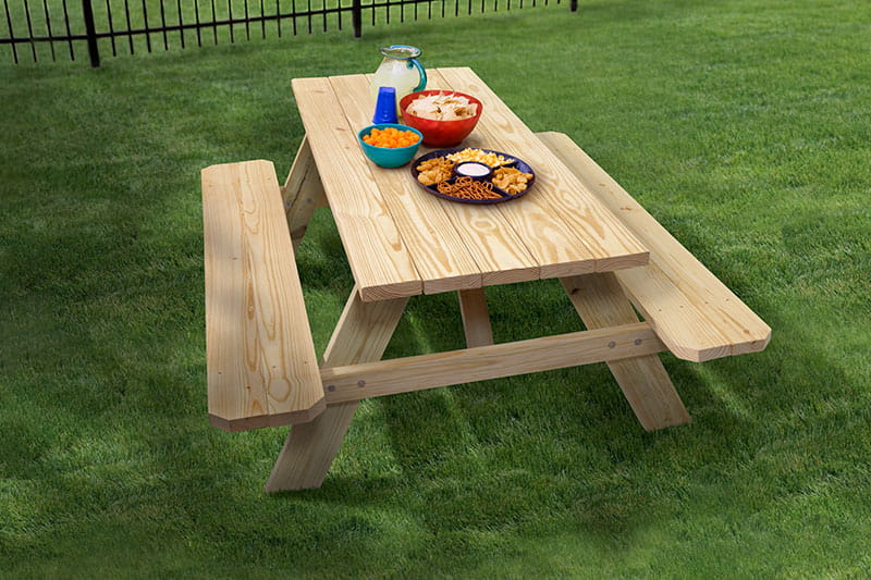 Excellent How Big Is A Standard Size Picnic Table Outdoor Essentials Ocoug Best Dining Table And Chair Ideas Images Ocougorg