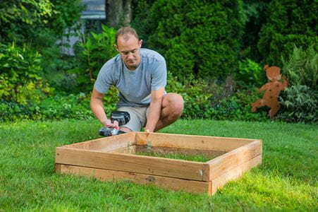 outdoor essentails raised garden bed assembly