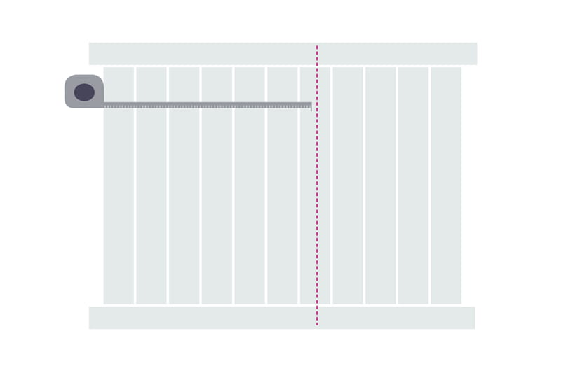 How to cut a vinyl fence panel step 2 - mark the fence panel