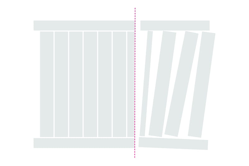 How to cut a vinyl fence panel step 4 - remove pickets