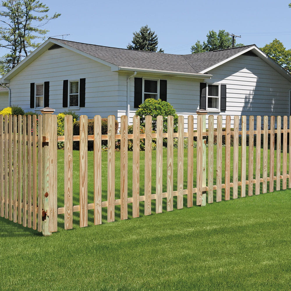 Dog Ear Spaced Picket Wood Fence