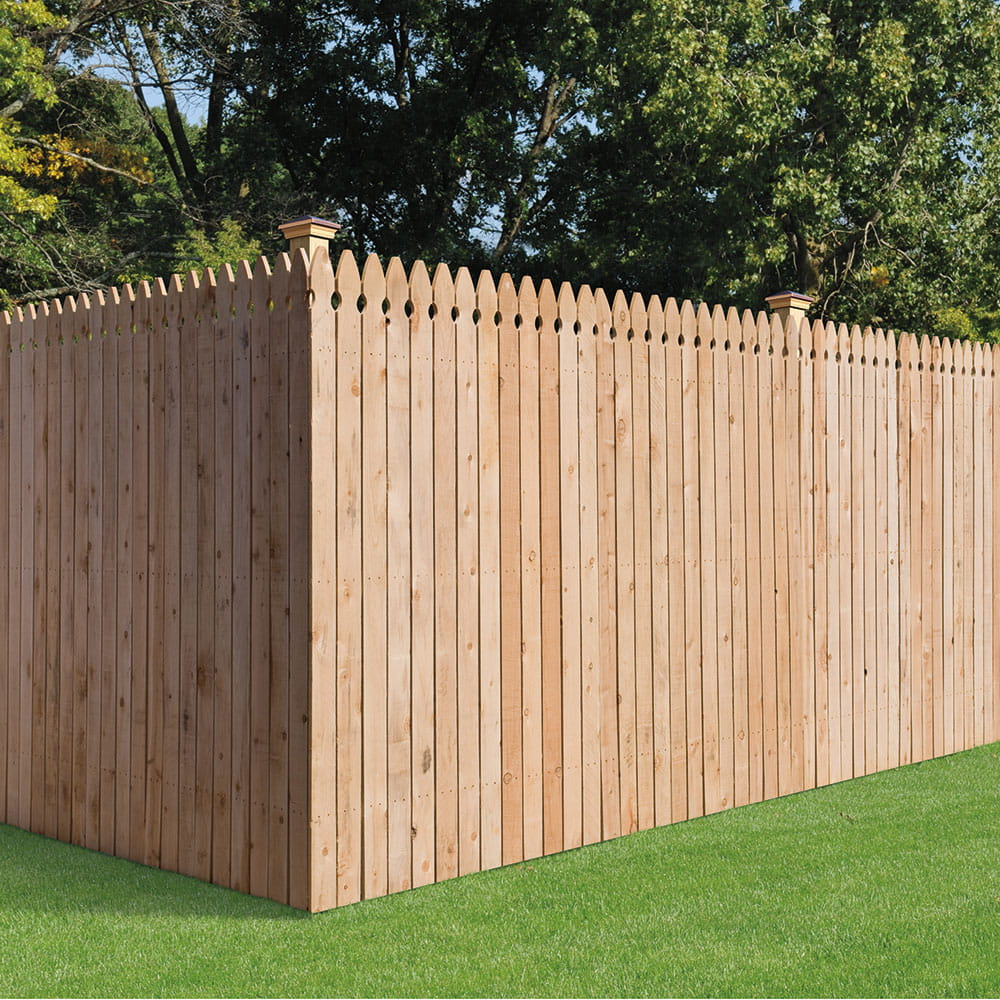 French Gothic Wood Privacy Fence