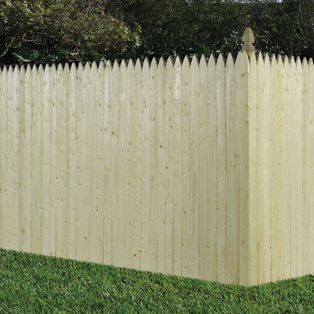 Gothic Privacy Wood Fence