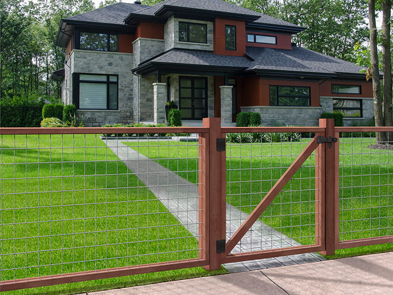 outdoor essentials mixed material hogwire fence