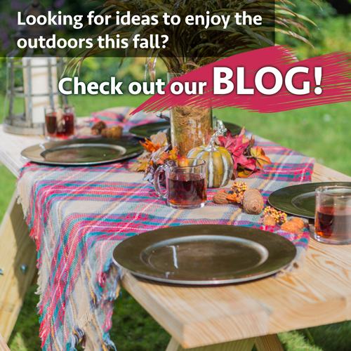 Looking for ideas to enjoy the outdoors thi sfall? Check out our blog!