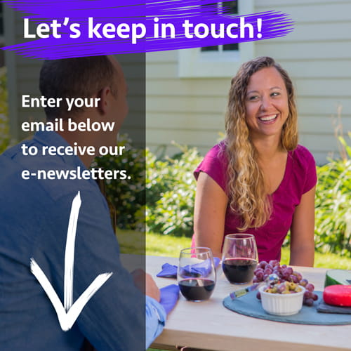 Let's keep in touch! Sign-up for our newsletter.