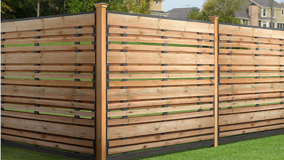6x6 Spaced Horizontal Fence Panel Kit