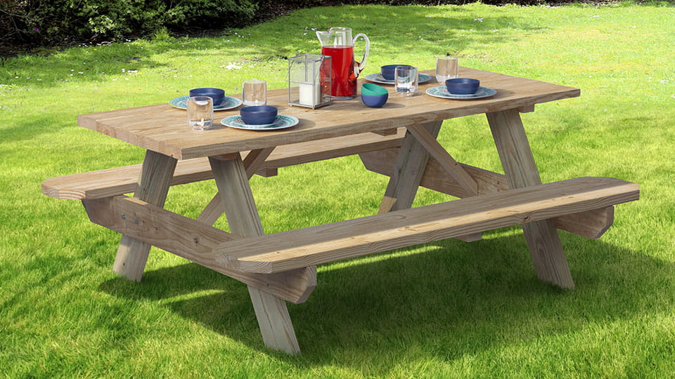 Pressure-Treated Picnic Table